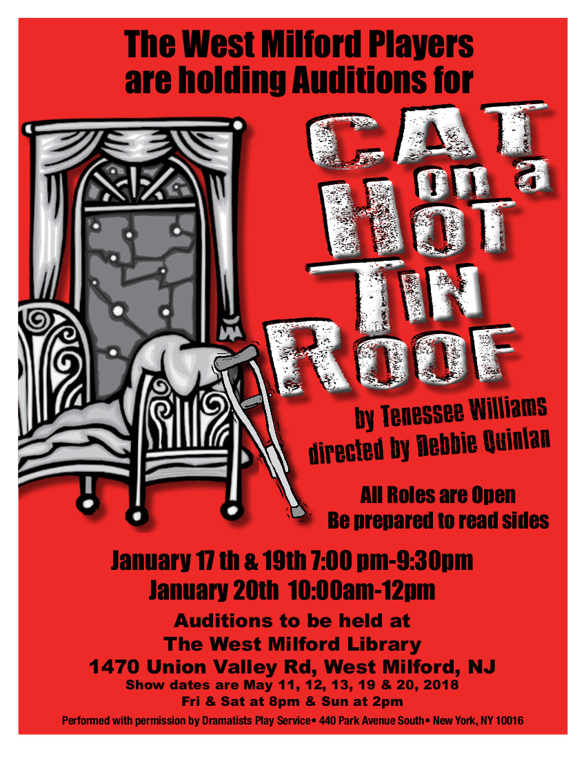 WMPlayers Upcoming Auditions - our 1st Murder Mystery
